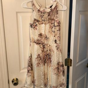Brand New White & Pink Lace Skater Dress